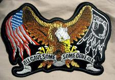 Adler Eagle Flag Aufnäher Patch Pow Mia XL Rückenaufnäher Biker Army USA Fahne