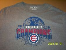 Chicago Cubs 2016 World Series Champions Gray Wright & Ditson T-Shirt Adult XL