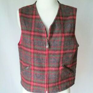 G.H Sz Women\u2019s Large. Bass Wool Plaid Jacket with pockets