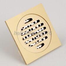 Antique Brass Bathroom Floor Drain Waste Grate Shower Drainer lhr008