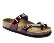 Birkenstock Mayari Toe Ring Slides Narrow Fit Sandals Wine Eur 37 US 6 - 6,5