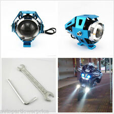Blue CREE U5 125W LED Motorcycle Laser Spot Light Bright Headlight For Road Hog