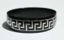 Black Stainless Steel Ring - Size11.5  (21mm)