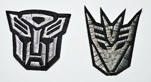 2x Cool autobot  n decepticon Sew or Iron On patch ≈6.4*5.8 &6.5*6.8 cm