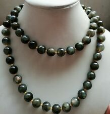 New 12mm Hot Natural Gemstone Necklace Labradorite Round Beads 35''