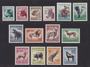 South Africa. 1954. SG 151-164, 1/2d to 10/-. Fresh, unmounted mint. Cat £32.