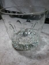 """HEAVY CLEAR 6"""" CRYSTAL GLASS BOWL WITH CUT LEAF DESIGN"""