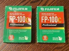 2 FujiFilm FP-100C ISO 3.5x4.2 in Professional Instant Color Film