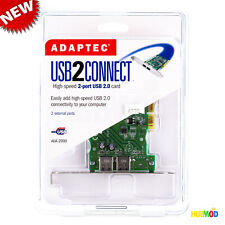 Adaptec AUA-2000 USB 2 Connect 2-Port USB PCI Card Expansion for PC & MAC NEW