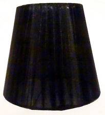 Lampenschirm / Schwarz / Stoff / Seide / E14