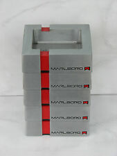 5 pc Marlboro ashtray silver red metal cigarettes used rare