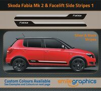 Skoda Fabia M2 & Facelift Stripe Kit Stickers decals - Other colours available