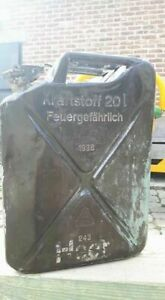 2x STENCIL FOR GERMAN WW2 WWII  20l JERRY CAN KANISTER Heer ARMY 10X3.5CM