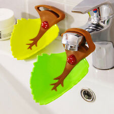 Silicone Water Faucet Tap Sink Extender Toddler Kids Hand Wash Leaf Bath Fun New
