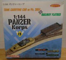 1:144 Panzer Korps #15 Tank Carrying Car w/PZ. 38(t) Railway Flatbed 82219DBT2