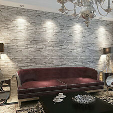 10M PVC Roll Blocks Brick Stone Vinyl Background 3D Wall Cover Paper Room Decor
