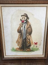 Original Oil Painting Of a Clown Signed COOPER (Lydia Cooper)