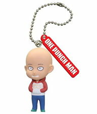 One Punch Man Mascot PVC Keychain Figure B-Class Caped Baldy SD Saitama @83808
