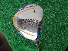 Tour Edge Golf Bazooka GeoMax 2 Strong 3 Fairway Wood 13* Stiff Flex Shaft NEW