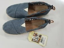 AUTHENTIC Toms Youth Kids 2.5 Bimini Slip-on Casual Shoes Chambray Denim