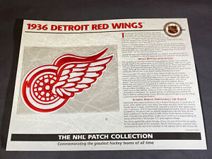 Willabee & Ward NHL Official Patch 1936 Detroit Red Wings