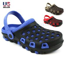 Mens Slip On Clogs Slippers Rubber Shoes Sandals Beach Garden Summer Water Flat