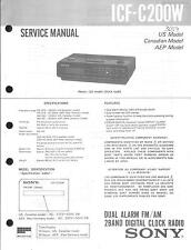 Sony Original Service Manual für ICF- C 200W