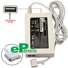 Compatible 20V 4.25A 85W MacBook Pro Retina AC Adapter Charger + 5V 2A USB Port