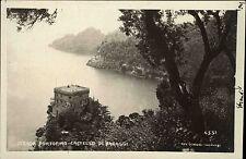 Portofino Ligurien Italien Cartolina Italiana ~1920/30 Castello Blick in Bucht