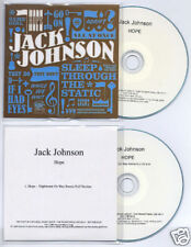 JACK JOHNSON Hope UK DJ promo CD + bonus CD Nightmares On Wax
