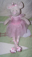 "New listing Pier 1 Imports Stuffed Pink Plush Ballerina Mouse Plush Doll Toy 16"" Euc"