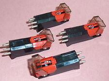 Four Ceramic Cartridges + stylus Record Player Turntable Alba, Bush MS721 Derens