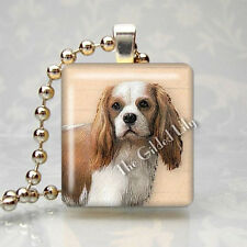 CAVALIER KING CHARLES SPANIEL DOG BREED Scrabble Tile Art Pendant Jewelry Charm
