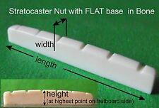 Stratocaster / Strat Guitar Bone Nut. Flat base. CUSTOM MADE TO YOUR SPEC. PN009