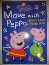 Peppa Pig Sticker Book - Move With Peppa Reward Chart Book - Brand New RRP £3.99