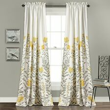 Aprile Room Darkening Window Curtain Yellow/Gray Set 52x84+2