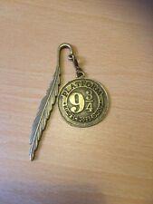 Harry Potter Inspired Bronze Tone Platform 9 3/4 Bookmark