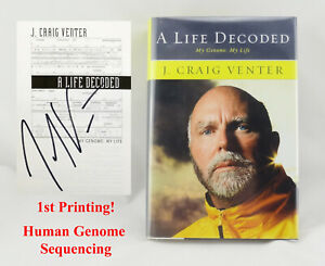 SIGNED J. Craig Venter: A Life Decoded My Genome 1st/1st Science, Biology, DNA