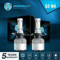 IRONWALLS H4 9003 HB2 LED Headlight Bulbs Light Hi/Lo Beam Kit 6500K HID White