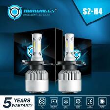 2X H4/9003/HB2 LED Headlight Kit Bulbs 72W 9000LM Hi/Low Beam HID COB 6500K