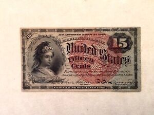 - FR 1271 15 Cents Fourth 4th Issue US Fractional Currency