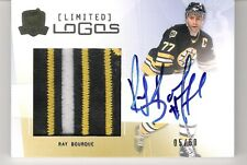 Ray Bourque 2009-10 The Cup Limited Logos Autograph 3-Color Logo Patch 5/50 Auto