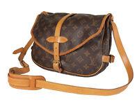 LOUIS VUITTON Saumur 30 Monogram Canvas Leather Crossbody Shoulder Bag LS4123