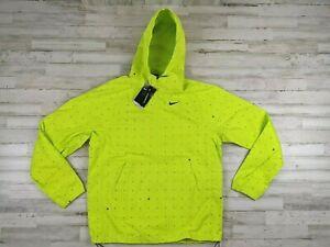 Nike Men Repel Printed Golf Anorak Packable Summit Lime green Size Medium CW6740