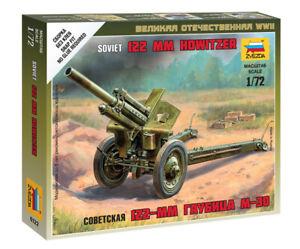 Zvezda 1/72 Figures - Soviet M-30 122mm Howitzer with Crew Z6122