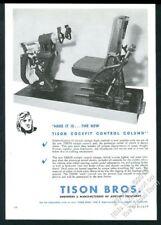 1946 Tison Bros Avión Cockpit Control Columna Flight Foto Vintage Anuncio