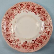 Romantic England Red Saucer For Flat Cup J & G Meakin Anne Hathaways Cottage (O)
