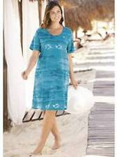 NEW ULLA POPKEN South Pacific Turquoise Knit Dress Swim Cover Up XL 12 14
