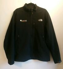 Men's The North Face Black Fleece Lined Soft Shell Jacket Size Large L - Logo