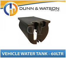Vehicle Water Tank With Soap Dispenser (60L) Black PVC Truck Tray - LH & RH